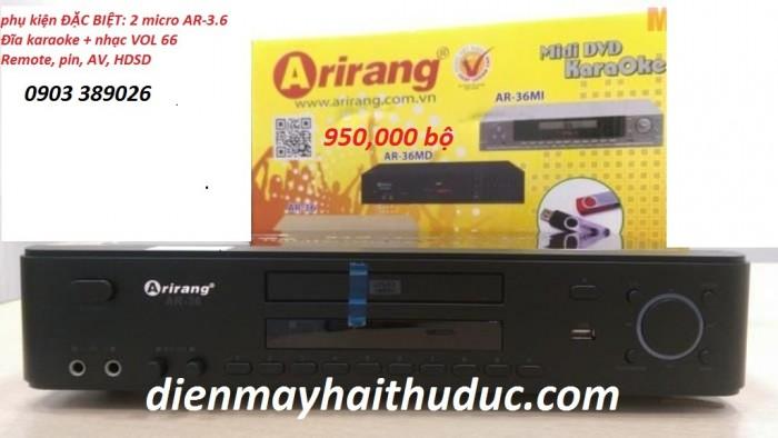 Đầu karaoke 5 số Arirang AR-36 hàng mới 100%, chính hãng 100%1