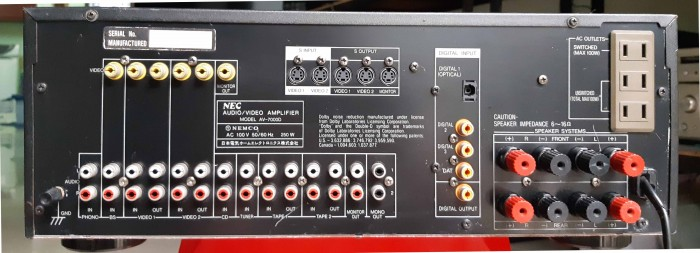 Ampli Digital Surround NEC AV 7000D Hàng nội địa Nhật12