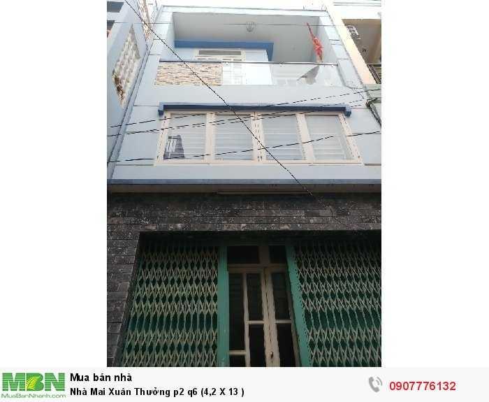 Nhà Mai Xuân Thưởng p2 q6 (4,2 X 13 )