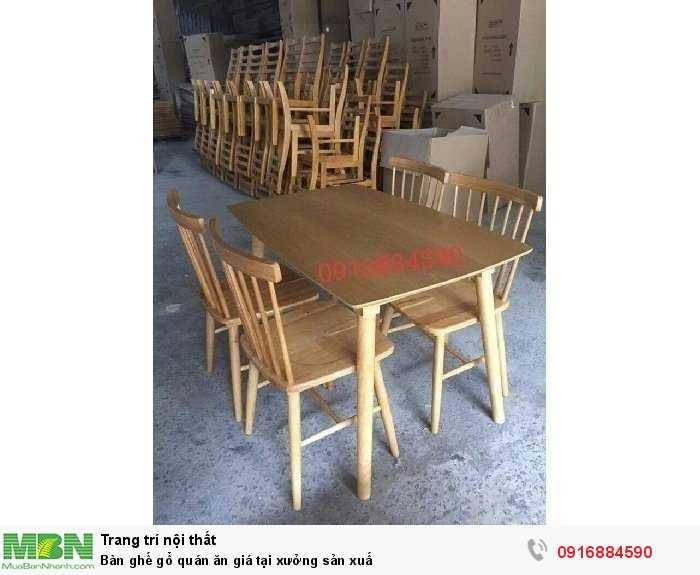 Bàn ghế gổ quán ăn giá tại xưởng sản xuấ