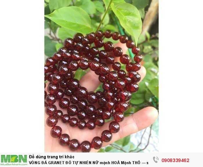 vòng đá granet đỏ tự nhiên nữ mệnh hoả mệnh thổ — size 8mm = 550k3