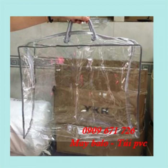 May túi xách nhựa PVC, cơ sở may túi xách nhựa Plastic giá rẻ
