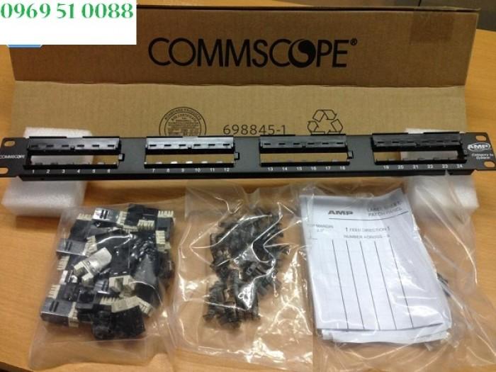Patch panel 24 port CAT5E COMMSCOPE (Lưu ý: Thương hiệu AMP NETCONNECT đã đổi tên thành COMMSCOPE) - Part number: 1479154-20