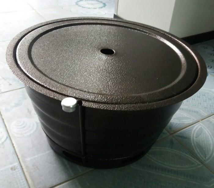 Bếp nướng than hoa âm bàn cho quán nướng bbq,bếp hút dương2