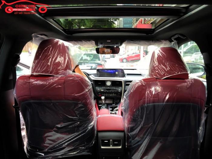 Giao ngay Lexus RX 350 F-Sport 2019 màu trắng, nội thất đỏ cherry cực hiếm, giá tốt
