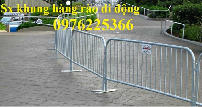 Nhận gia công khung hàng rào di động, hàng rào chắn đám đông9