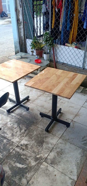 Thanh lý 100 bàn cafe mặt gỗ chân sắt giá rẻ