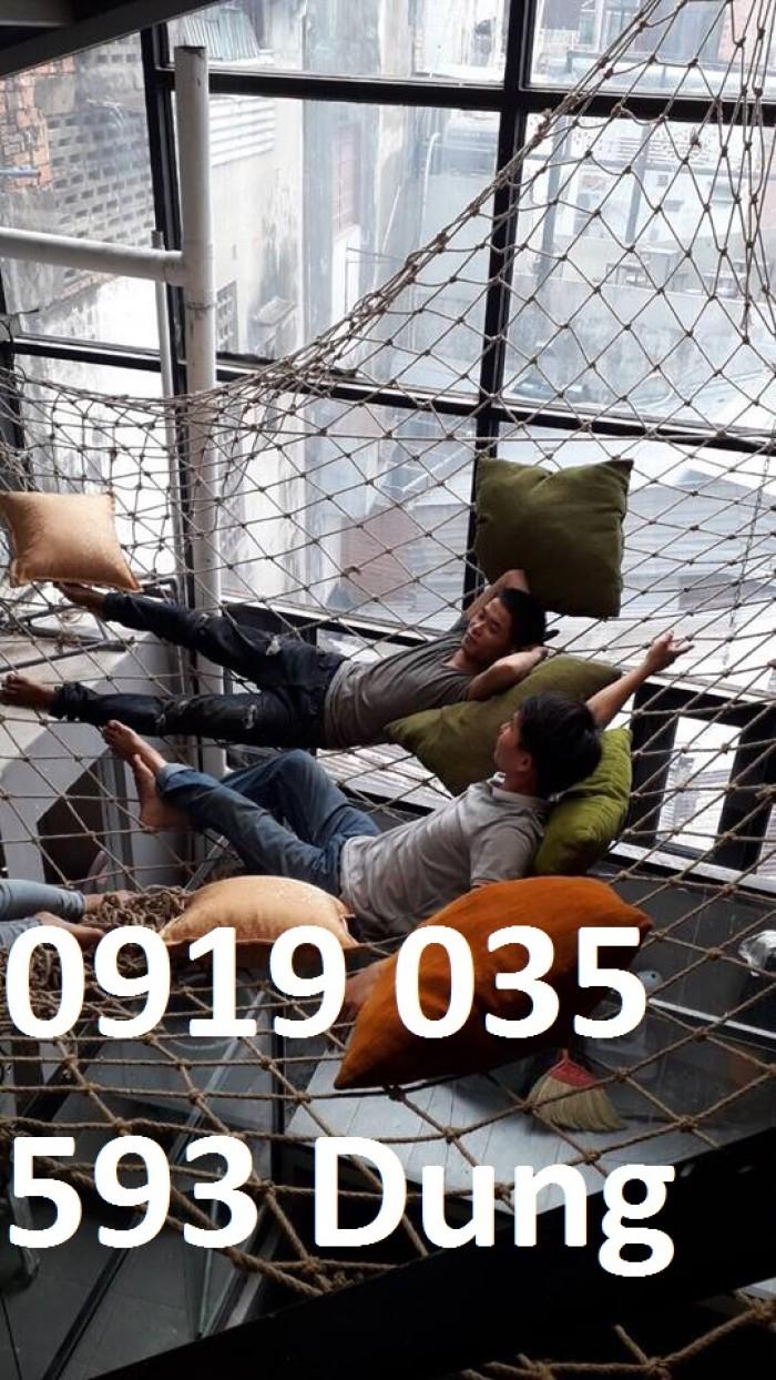 Lưới an toàn bằng dây thừng chuyên làm leo trèo vận động ngoài trời đi dã ngoại6