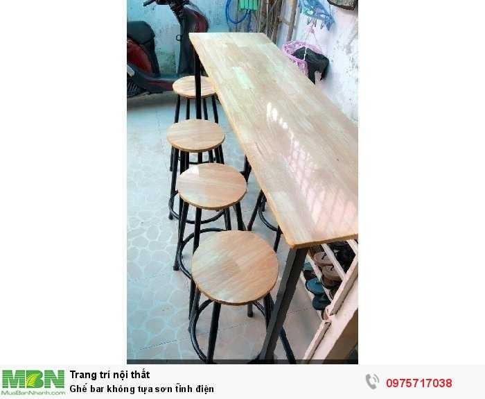Ghế bar không tựa sơn tĩnh điện