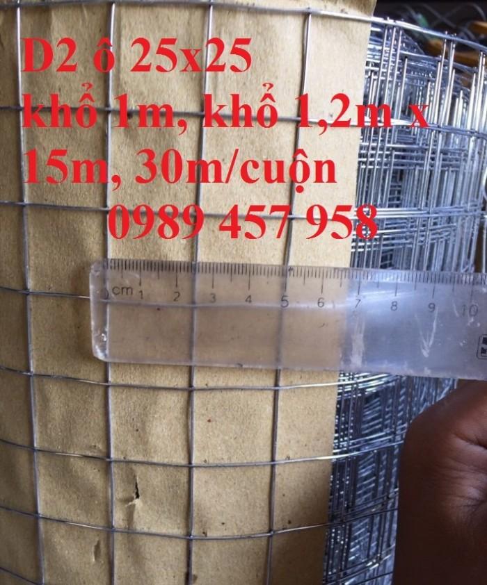 Lưới hàn mạ kẽm phi 2 mắt 25x25 khổ 1m, 1,2m, 1,5m hàng có sẵn3