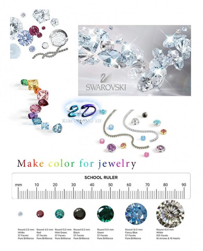 Sĩ và lẻ kim cương nhân tạo cao cấp Swarovski Gemstone3