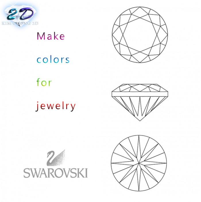 Sĩ và lẻ kim cương nhân tạo cao cấp Swarovski Gemstone6