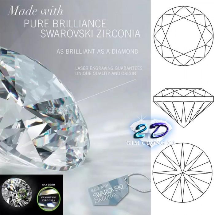 Sĩ và lẻ kim cương nhân tạo cao cấp Swarovski Gemstone4