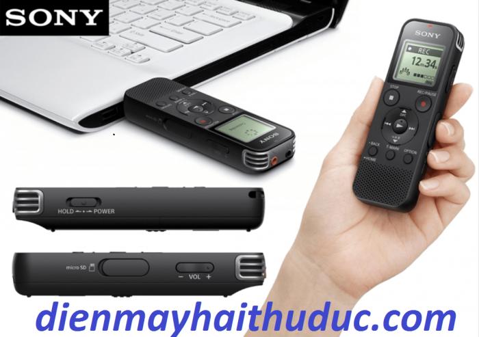 Máy ghi âm Sony ICD-PX470 màu xám có kích thước nhỏ, dễ dàng cầm gọn trong tay5