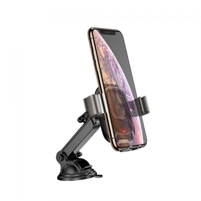 Giá Đỡ Kiêm Sạc Không Dây Baseus WXZN-B01 Cao Cấp  Bộ đế giữ được thiết kế thông minh có đế hít chắc chắn, giúp bạn dễ dàng gắn vào Táp - Lô hoặc kính chắn phía trước xe. Sản phẩm có khả năng chống sốc, chống rung rớt khi xe bạn đi vào đường dốc hay những địa hình phức tạp. Bộ đế giữ còn được tích hợp khả năng sạc không dây tiện dụng, chỉ cần đặt điện thoại lên là tự động sạc pin, giúp cho chiếc điện thoại của bạn luôn trong trạng thái sẵn sàng sử dụng  0