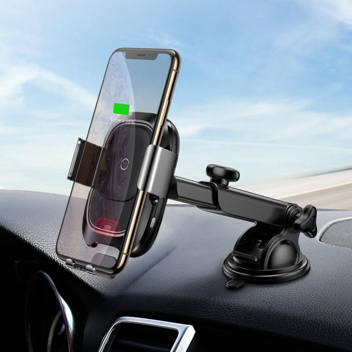 Tính năng cơ bản của Bộ đế giữ điện thoại kết hợp sạc không dây dùng trong xe hơi Baseus Wireless Charger Gravity Car Mount