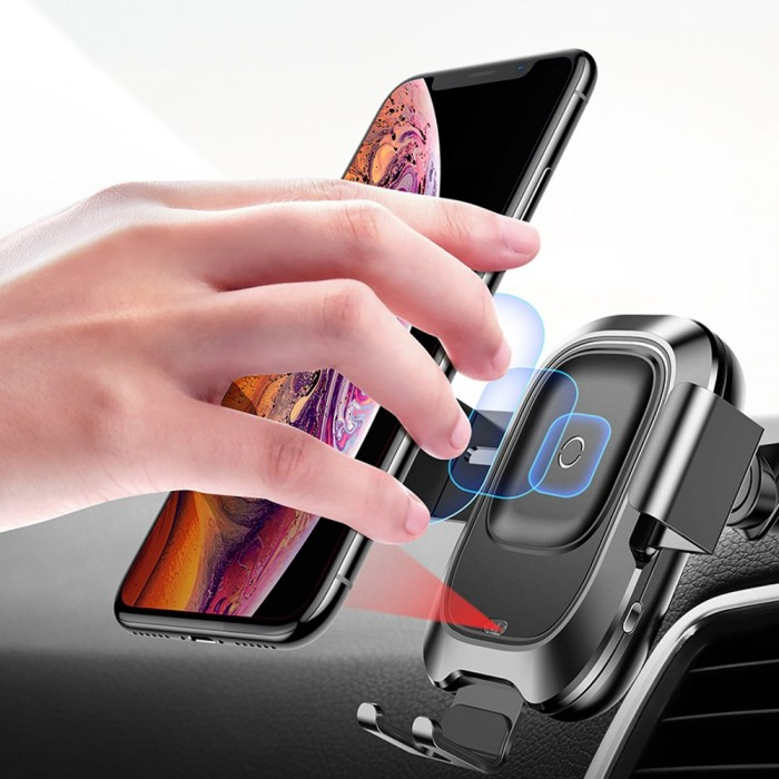 Công dụng: bộ đế giữ điện thoại (Holder / Car Mount) kết hợp với chức năng sạc không dây dùng trong xe hơi. Tương thích với mọi loại xe .  - Tính năng khóa/ mở tự động mỗi khi người dùng để điện thoại lên giá đỡ. - Tự động điều chỉnh kích thước sao cho vừa khít điện thoại khi để lên giá đỡ .  - Tự động điều chỉnh kích thước màn hình cho vừa với điện thoại khi đặt lên giá đỡ. Hỗ trợ cho