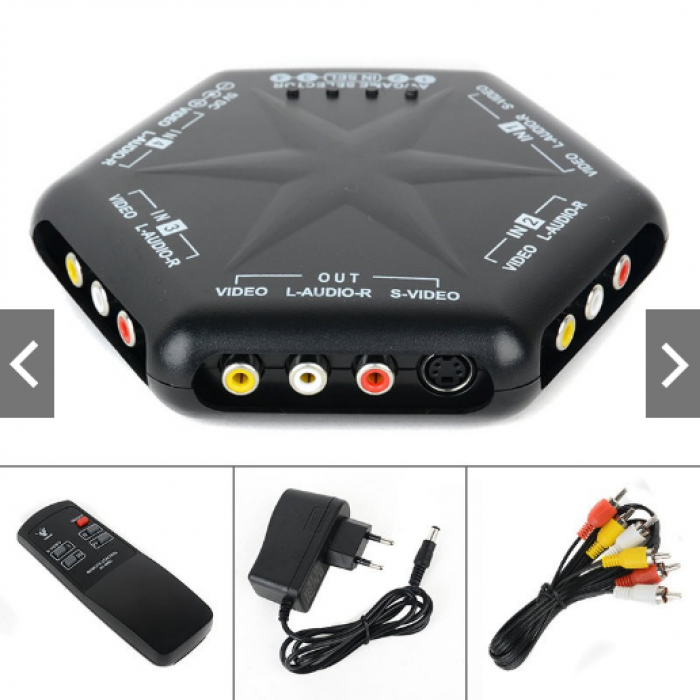 Bộ Chuyển Đổi 4 in 1 Out With Remote Control AV-666D S-Video Video Audio Cao Cấp2