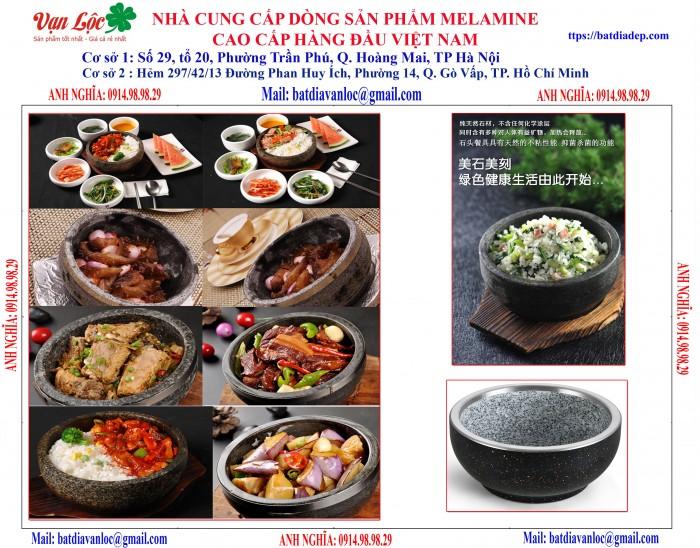 Bán Bát tô đá giữ nhiệt Nghệ thuật ẩm thực kiểu Hàn Quốc0