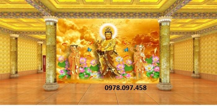 tranh gạch men 3d Đức Phật trang trí chùa8