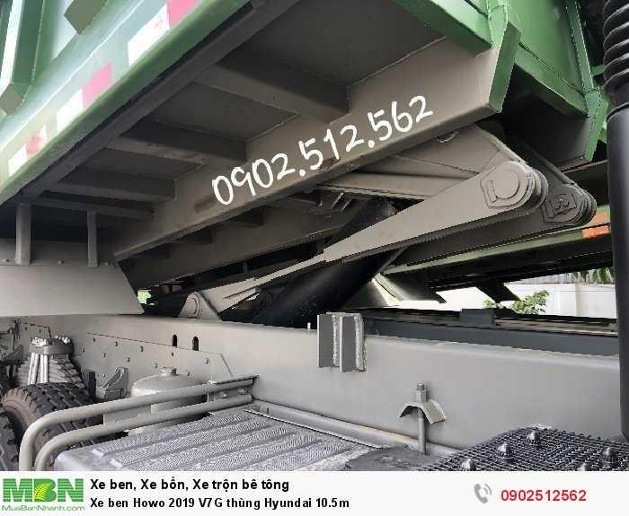 Xe ben Howo 2019 V7G thùng Hyundai 10.5m