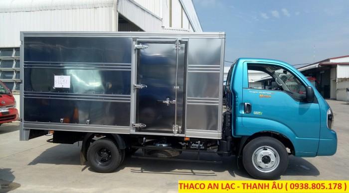 Xe tải Kia K250 thùng kín/mui bạt tải trọng 2,49 tấn lưu thông thành phố
