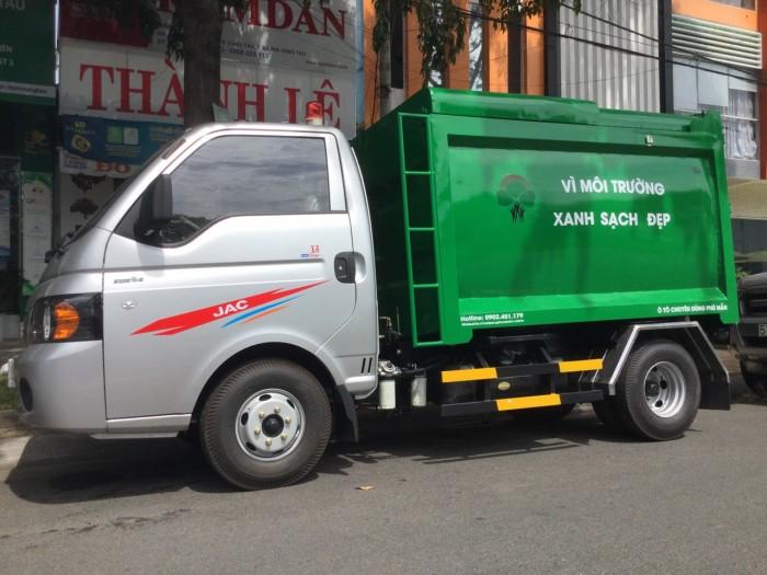 Xe chở rác 1 tấn thùng 3 khối 5 nhãn hiệu jac cao cấp 9