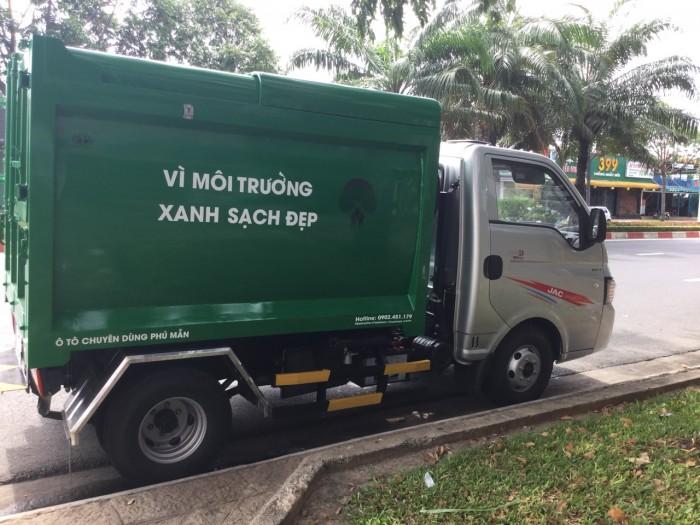 Xe chở rác 1 tấn thùng 3 khối 5 nhãn hiệu jac cao cấp 8