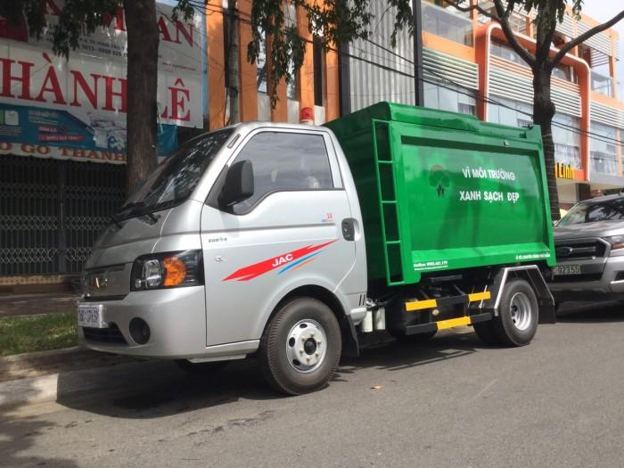 Xe chở rác 1 tấn thùng 3 khối 5 nhãn hiệu jac cao cấp 6