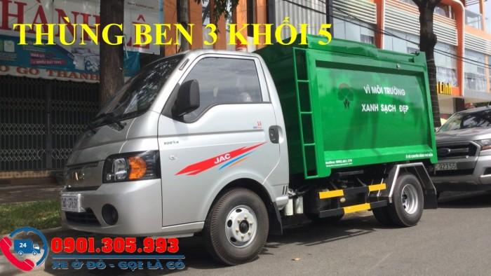 Xe chở rác 1 tấn thùng 3 khối 5 nhãn hiệu jac cao cấp 3