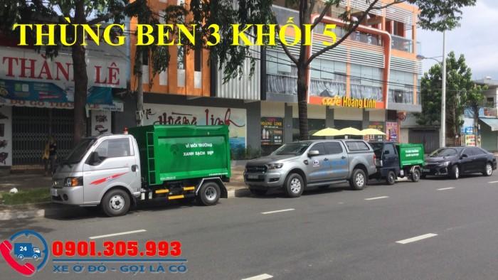 Xe chở rác 1 tấn thùng 3 khối 5 nhãn hiệu jac cao cấp 1