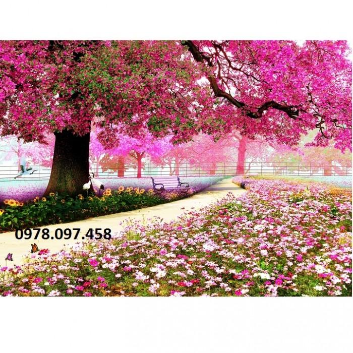 gạch tranh 3d vườn hoa công viên21