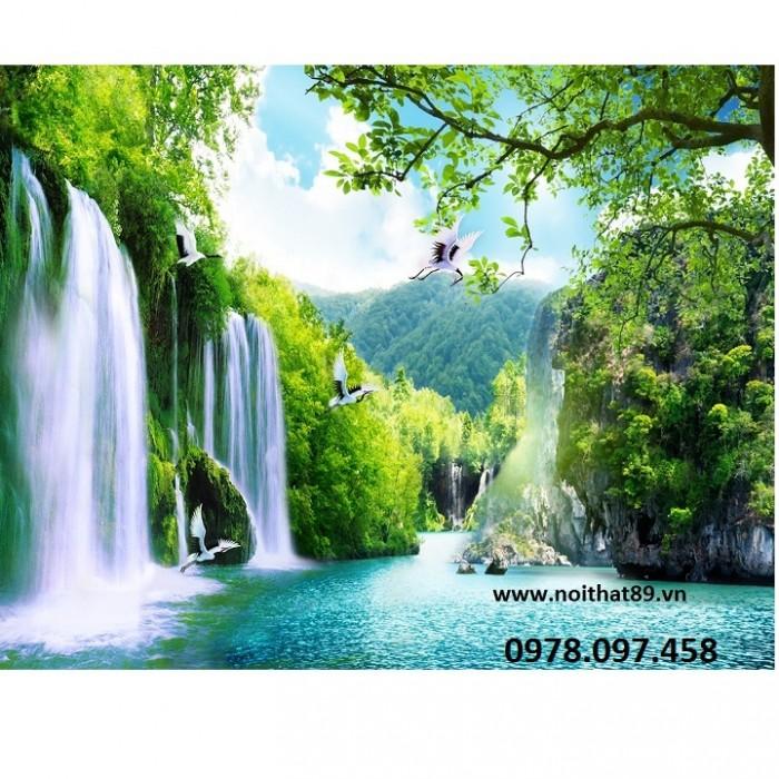 tranh gạch men 3d thác nước6