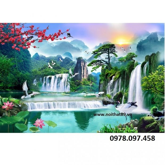 tranh gạch thác nước HP 0959