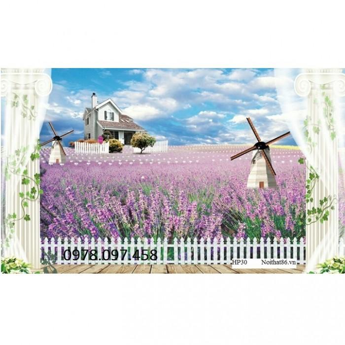 gạch tranh vườn hoa oải hương20