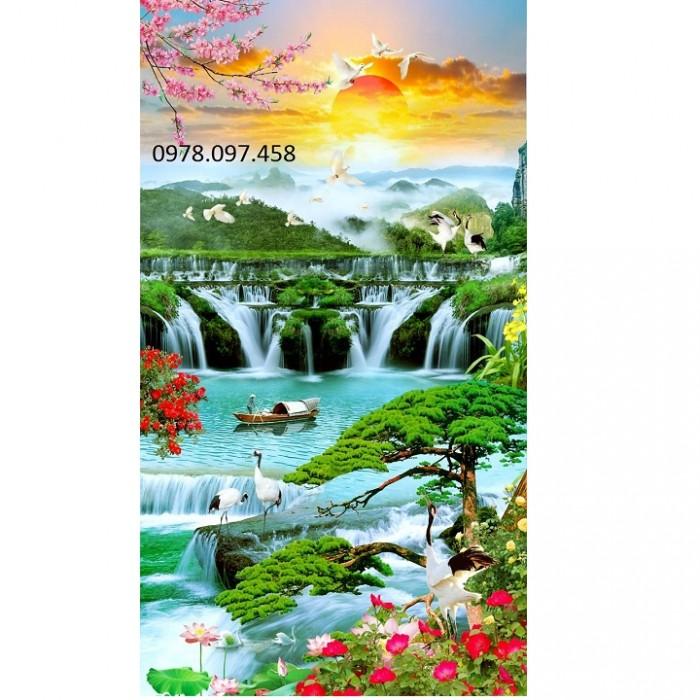 Tranh 3d thác nước11