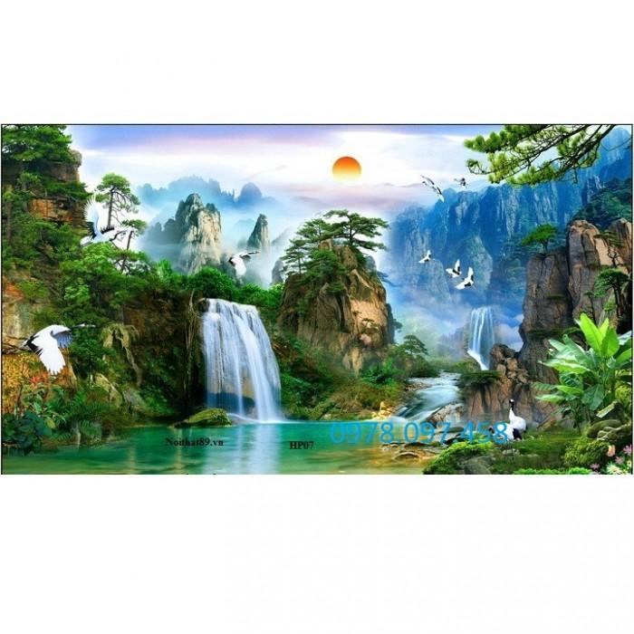 tranh gạch men thác nước HP0716
