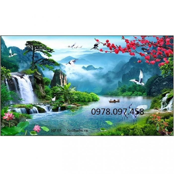 tranh 3d thác nước sơn thủy hữu tình7