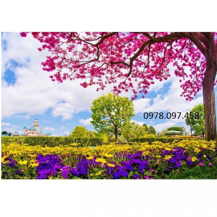 gạch tranh vườn hoa đẹp3