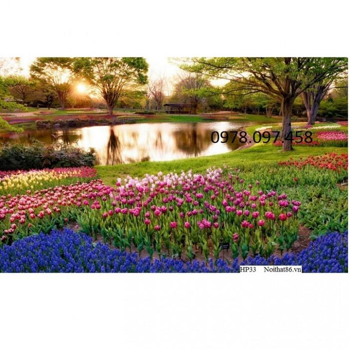 tranh công viên vườn hoa4