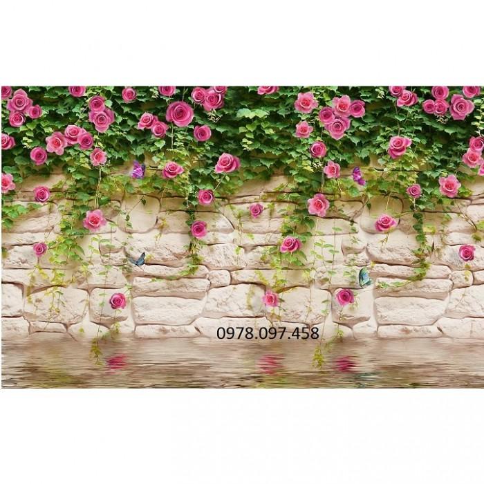 tranh vườn hoa hồng1