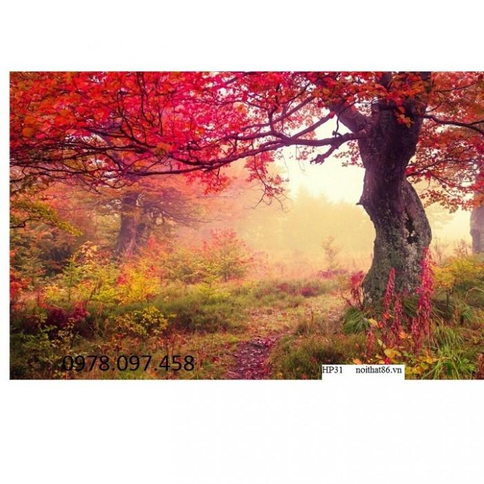 tranh cây đỏ2
