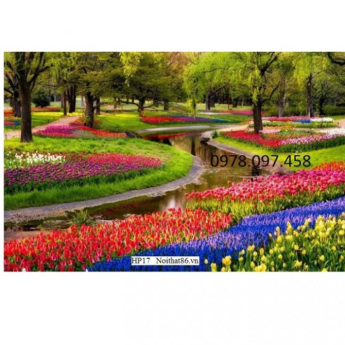 tranh 3d vườn hoa công viên5