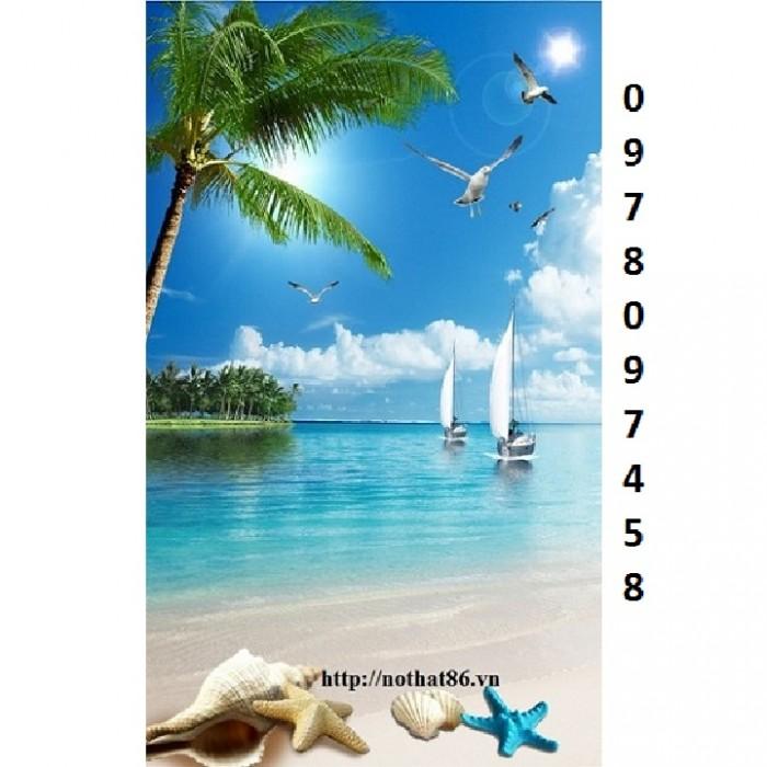 tranh thuyền và biển10