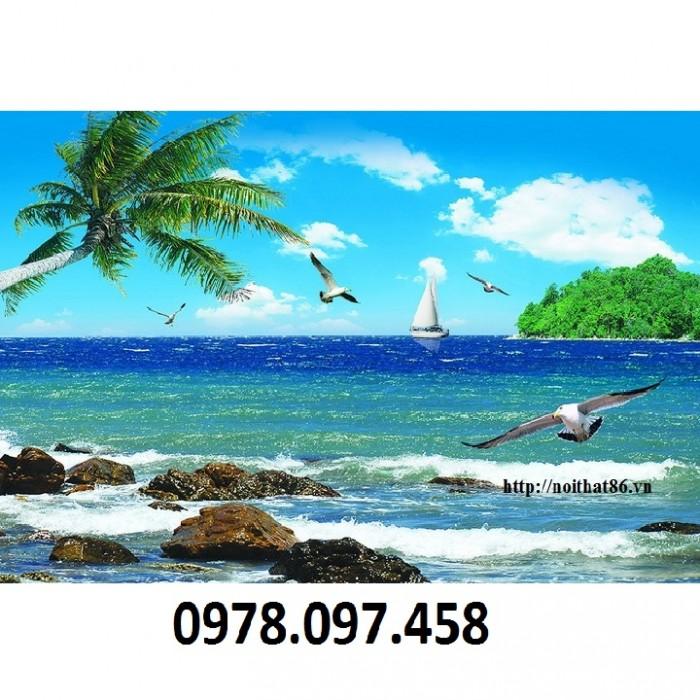 tranh thuyền và biển1