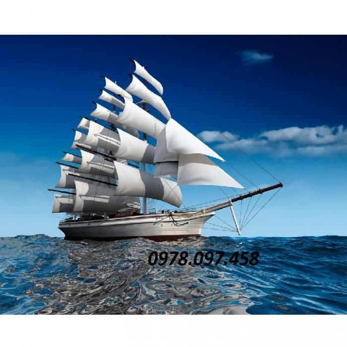 Gạch tranh thuận buồm xuôi gió7