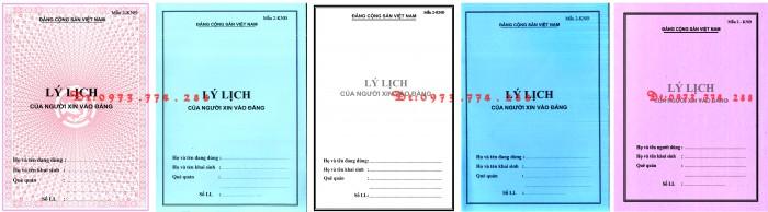 Xưởng in lý lịch của người xin vào Đảng (mẫu 2-KNĐ) và lý lịch Đảng viên mẫu (1-HSĐV)1
