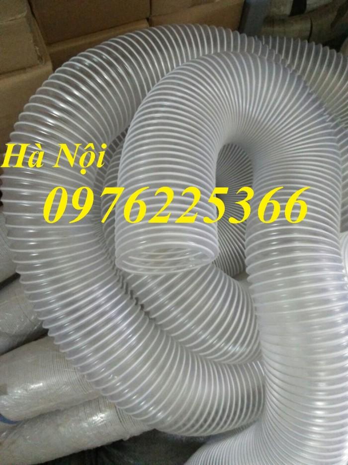 Ống gió bụi trắng, ống hút bụi lõi thép D50, D60,D75, D100...D200
