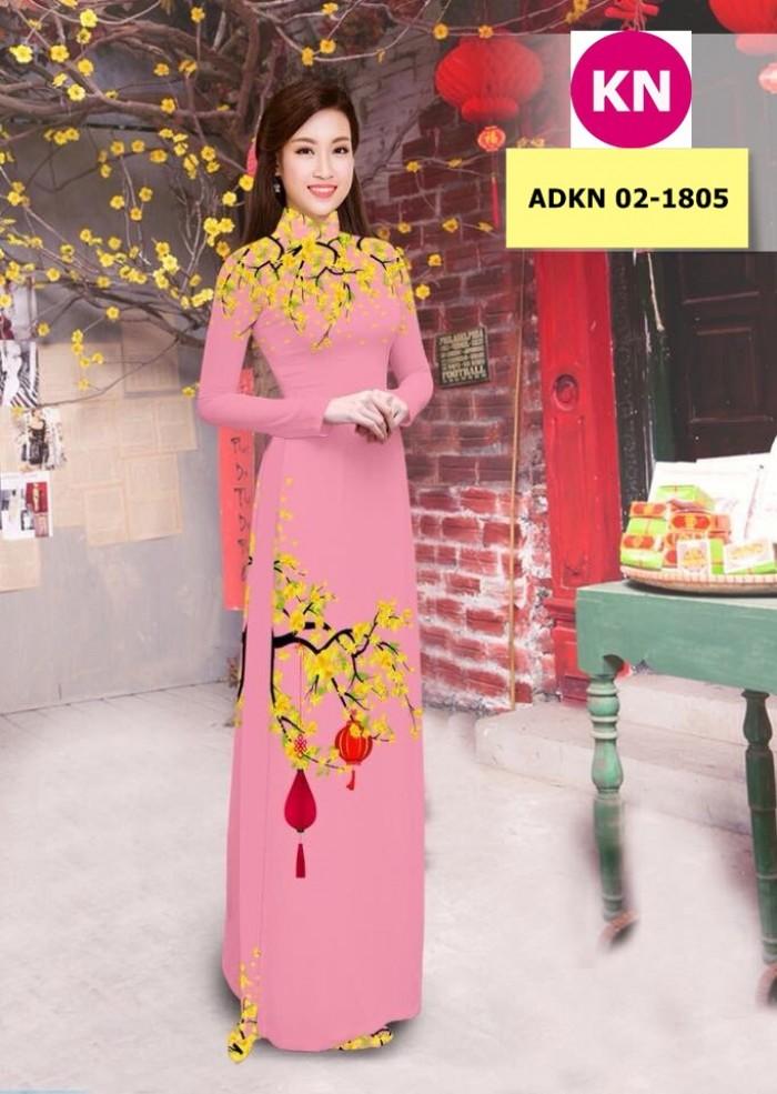 Vải bộ áo dài in đẹp ADKN 02-1805 (vải áo và vải quần )16