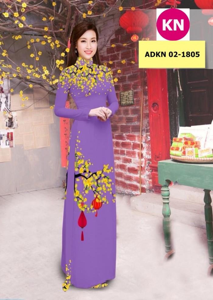 Vải bộ áo dài in đẹp ADKN 02-1805 (vải áo và vải quần )9